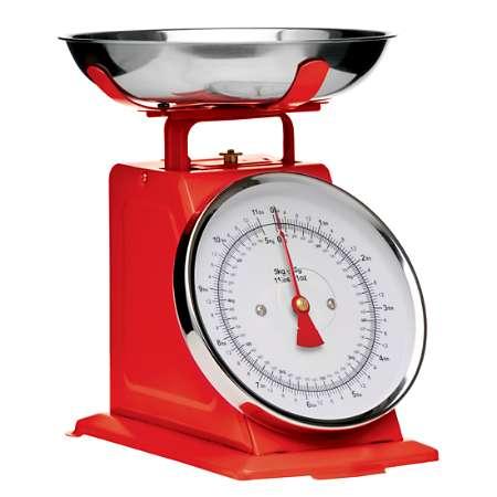 Balança de cozinha vermelha