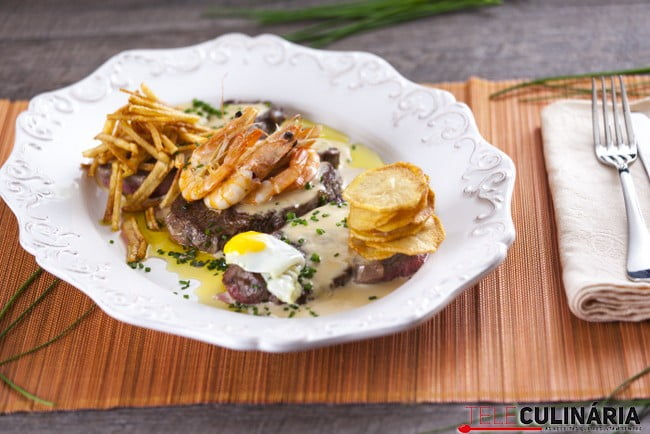 Bife do Lombo com Gambas