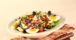 Salada mista colorida