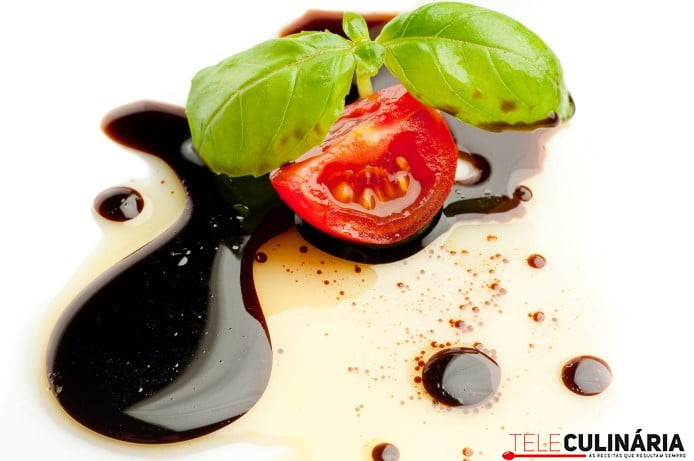 Olive oil balsmaic vinegar tomato and basil