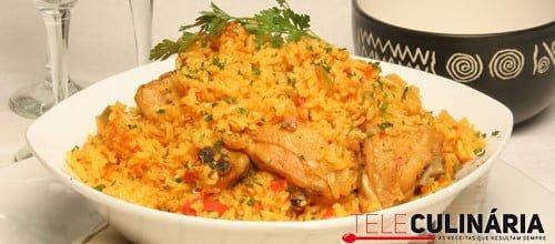 Arroz de frango à espanhola