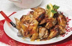 Asinhas de frango agridoces