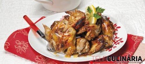 Asinhas de frango agridoces 3 D