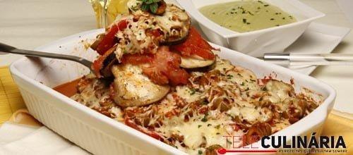 Assado de beringela com tomate 2 Detalhe