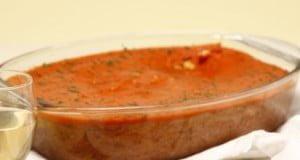 Bacalhau fofo com tomate