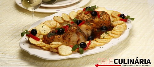 Bacalhau frito a portuguesa 3 D