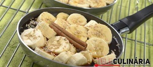 Bananas salteadas com caramelo 4 D