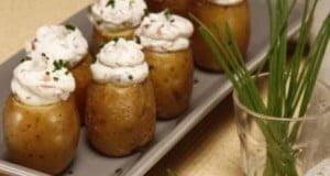 Batatinhas recheadas com queijo