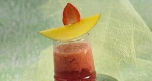 Batida tropical com álcool