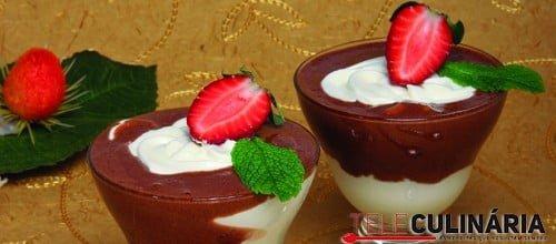 Bicolor de chocolate com leite condensado
