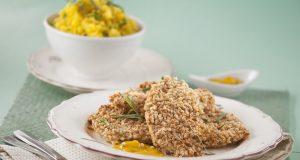 Bifes de frango com amêndoa no Forno