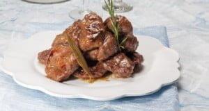 Bochechas de porco com Vinho do Porto