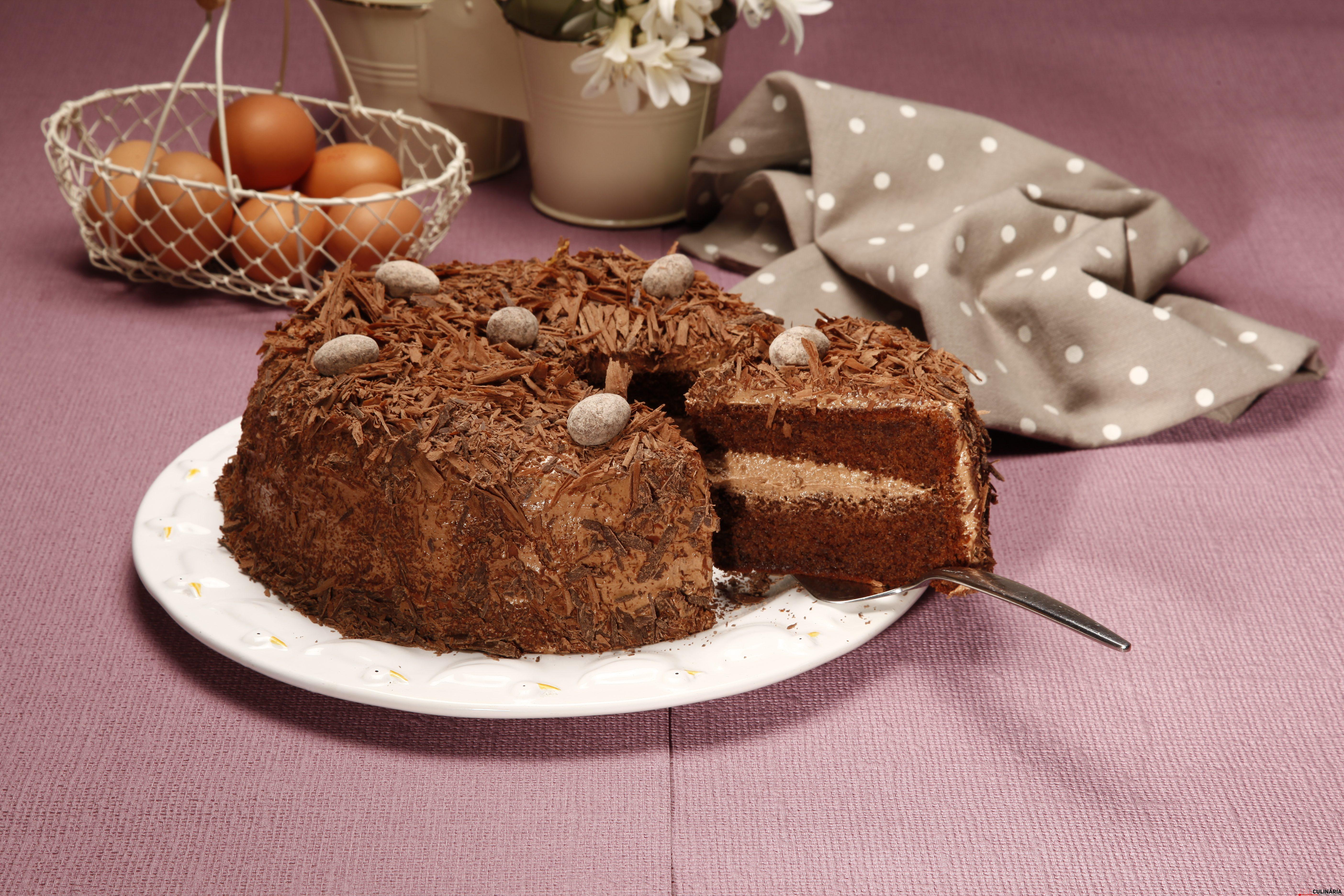 bolo de chocolate com mousse