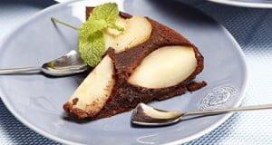 Bolo de peras e chocolate