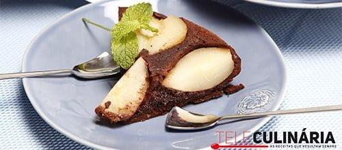 Bolo de Peras e chocolate 1 detalhe