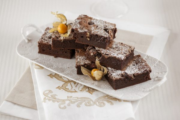 Brownie de Chocolate e Frutos Secos