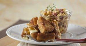 Camembert frito com maçã picante