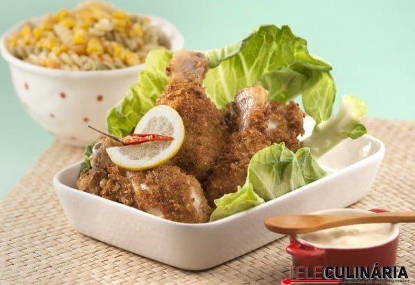 Coxas de frango fritas