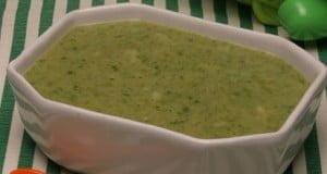 Creme de feijão branco com espinafres e arroz