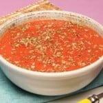 Creme frio de tomate e orégãos