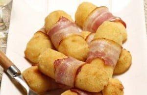 Croquetes de batata com bacon