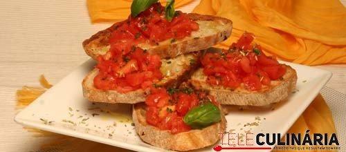 Crostinis de tomate e ervas