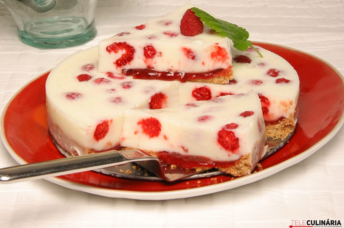 Delicia fresca de framboesas e iogurte TeleCulinaria