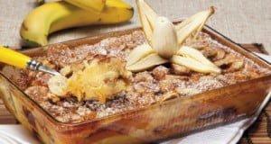 Delícia de banana com canela
