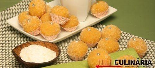 Docinhos de coco com laranja