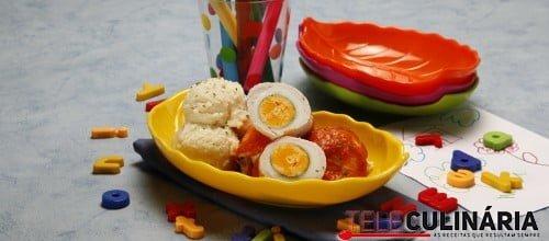 Embrulhinhos de peru com ovo 3 D
