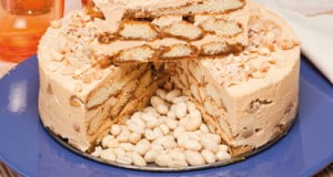 Enformado de biscoitos e creme de amendoim