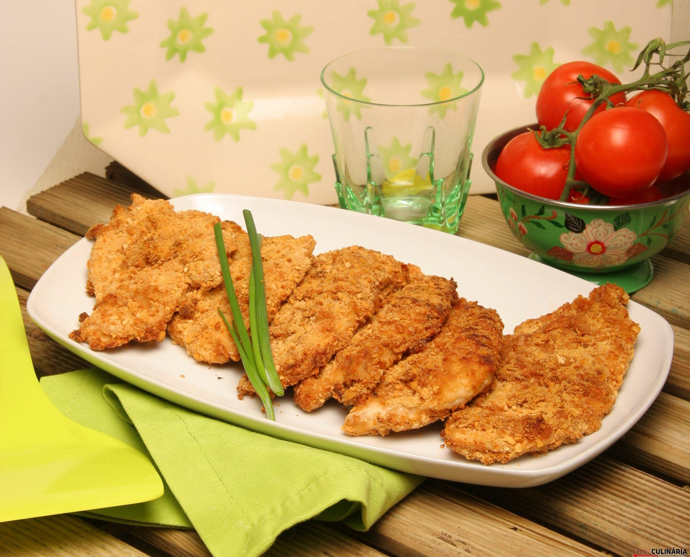 Escalopes de frango panados