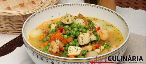 Estufado de pota com camarão