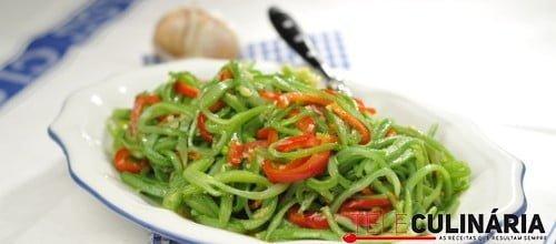Feijao verde salteado com pimentos morrones 5 D