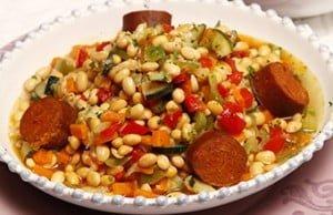 Feijoada de soja e vegetais