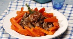 Fígados com cenoura