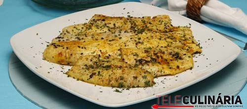 Filetes de pescada com acafrao e sementes Detalhe