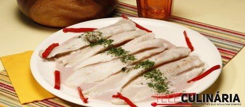 Filetes de pescada com porto 3 D