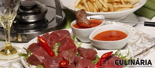 Fondue de carne a Maxicana 1 Detalhe