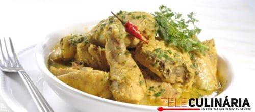 Galinha com molho curry 5 D