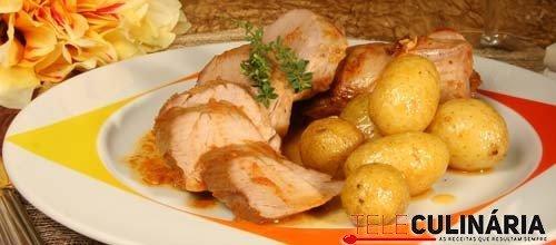 Lombinhos de porco preto no forno