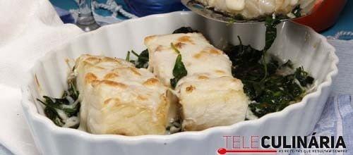 Lombo de bacalhau com queijo e espinafres 10 DETALHE