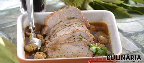 Lombo de porco com castanhas 9 D