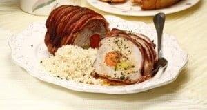 Lombo de porco enrolado