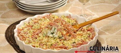 Macedonia de legumes com carnes frias 1 D