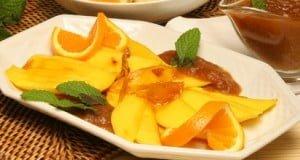 Manga com puré de frutas