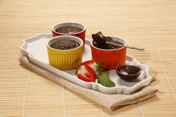 Mini brownie no microondas 6