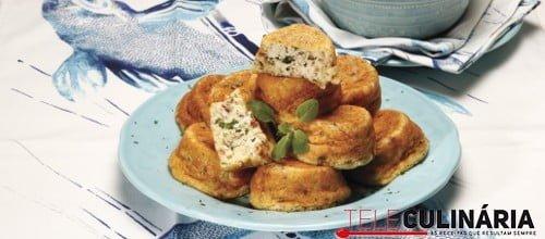 Muffins de arroz com creme de frango 3 D