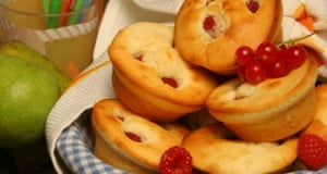 Muffins de framboesas