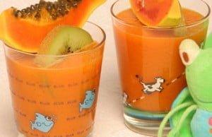 Néctar de papaia e cenoura